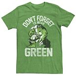 Men's Marvel Hulk Don't Forget Green St. Patrick's Day Tee
