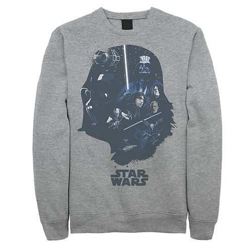 Millennium Falcon Star Wars Darth Vader Han Solo Licensed Grey Mens T-shirt