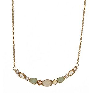 Rhode & Co. Moonstone & Grey Agate Frontal Necklace