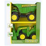 John Deere 2-Pack 15-inch Big Scoop Dump Truck & Tractor Loader Set by Tomy