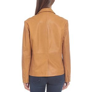 Women's Badgley Mischka Leather Blazer