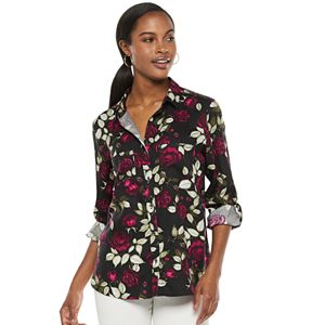 Women's Rock & Republic® Cuffed Button-Down Shirt