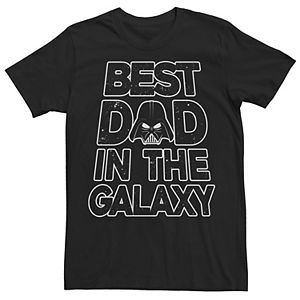 Men's Star Wars Vader Father's Day Galaxy's Best Tee