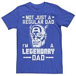 Men's Marvel Captain America Father's Day Regular Tee