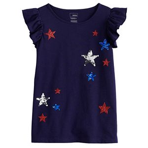 Girls 4-12 Sonoma Goods For Life® Ruffle-Sleeve Tee