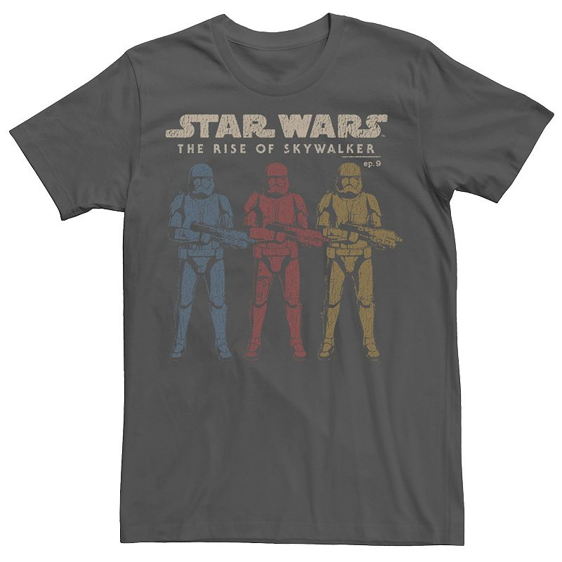 Men's Star Wars The Rise of Skywalker Stormtrooper Reflection Tee, Size: Large, Grey