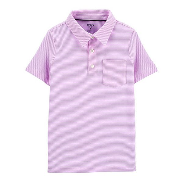 Boys 4-14 Carter's Striped Pocket Polo