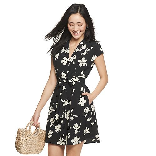 Women's POPSUGAR Belted Mini Shirt Dress