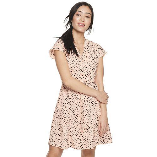Women's POPSUGAR Belted Mini Shirt Dress