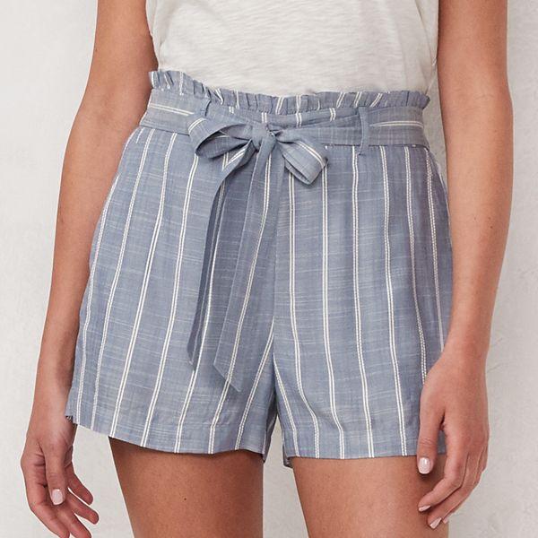Women's LC Lauren Conrad Belted Paper Bag Shorts