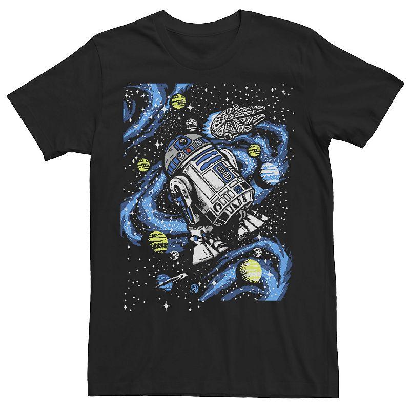 Men's Star Wars R2-D2 Floating In Space Tee, Size: XL, Black