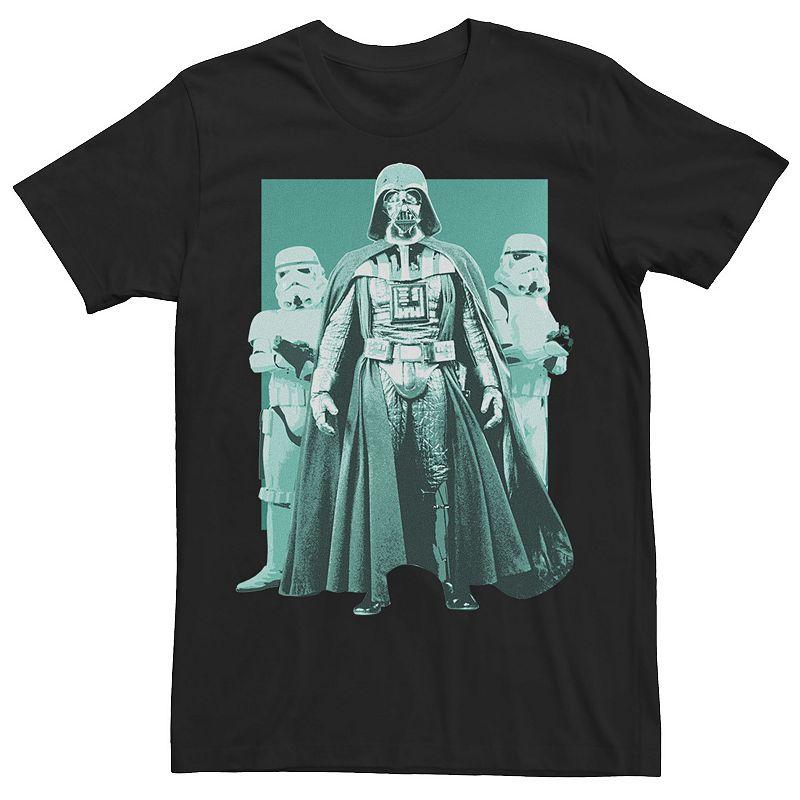 Men's Star Wars Darth Vader & Stormtroopers Portrait Tee, Size: 3XL, Black