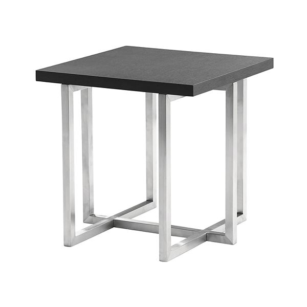Armen Living Topaz Contemporary End Table