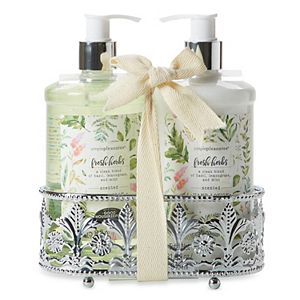 Wright's Apothecary Floral Fancy Caddy Set