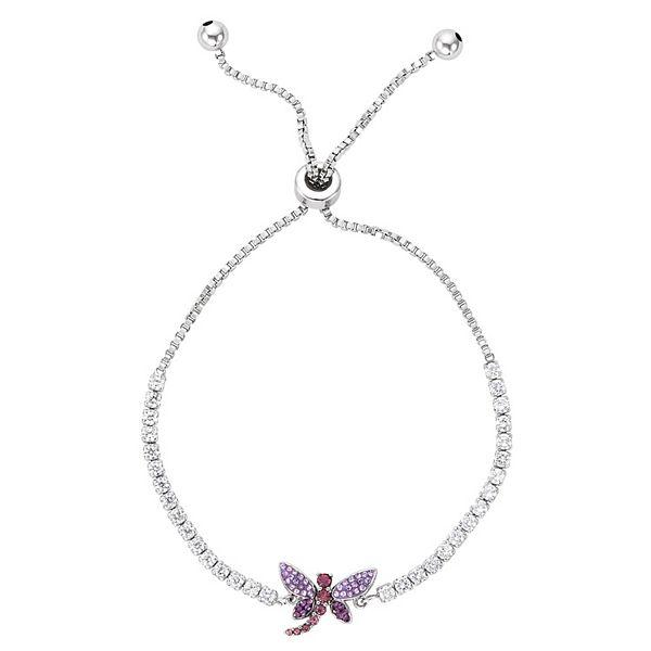 Crystal Dragonfly Adjustable Bracelet