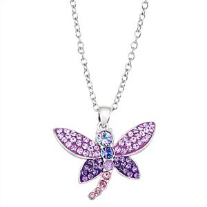 Crystal Dragonfly Pendant Necklace