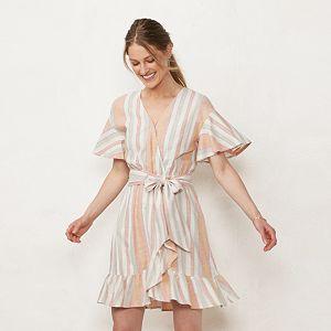 Women's LC Lauren Conrad Ruffle Wrap Dress