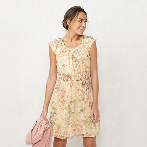 Women's LC Lauren Conrad Pleat Neck Dress
