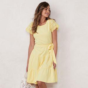 Women's LC Lauren Conrad Eyelet Fit & Flare Dress