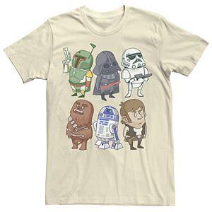 Men's Star Wars Character Doodles Graphic Tee