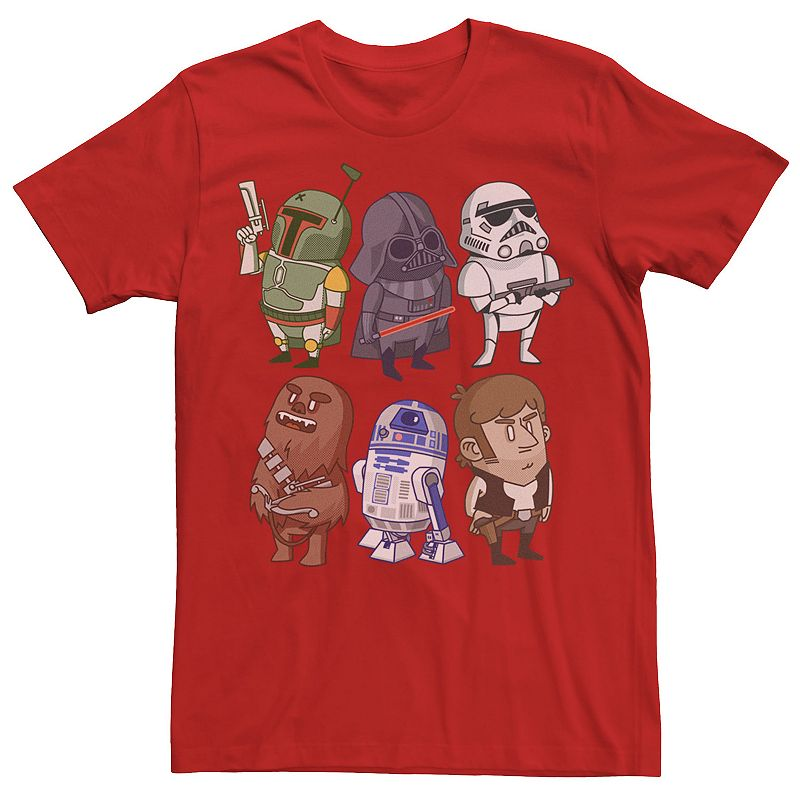 Men's Star Wars Character Doodles Graphic Tee, Size: Small, Red
