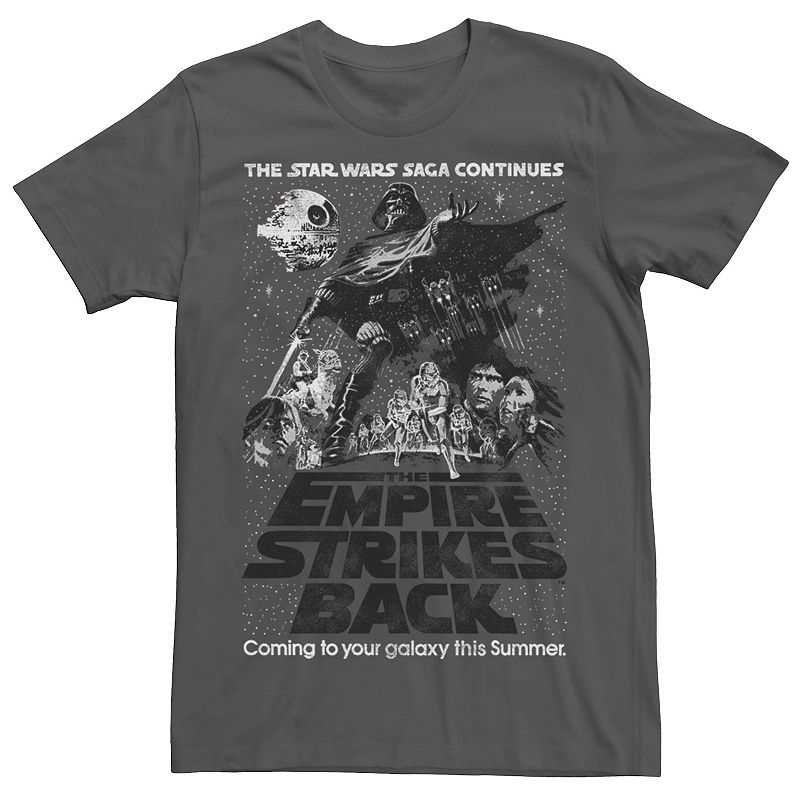 Men's Star Wars Empire Strikes Back Classic Poster Graphic Tee, Size: Large, Grey