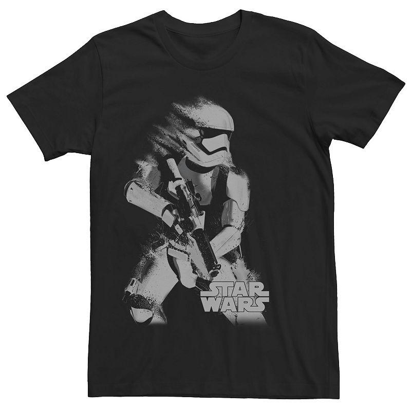 Men's Star Wars Stormtrooper Smudged Portrait Graphic Tee, Size: XXL, Black