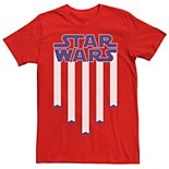 Men's Star Wars Fighter Jets Star Bangled Banner July 4th Tee