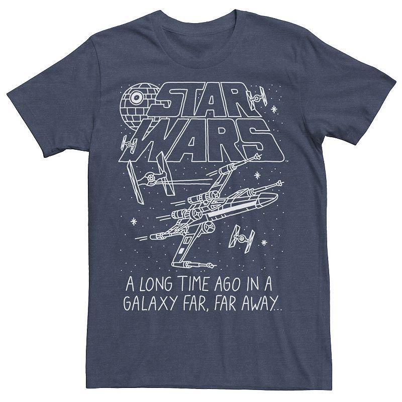 Men's Star Wars Far Far Away Sketch Tee, Size: XXL, Blue