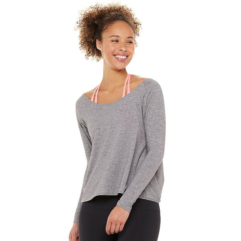 Women's Montiel Hanley Open-Back Top, Size: XL, Grey