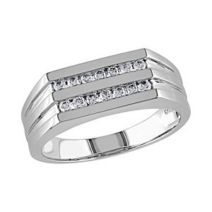 Men's Stella Grace 10k White Gold 1/3 Carat T.W. Diamond Ring