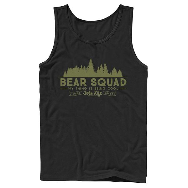 Men's Cartoon Network We Bare Bears Squad Being Cool Forest Tank