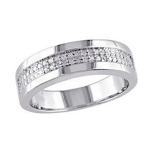 Men's Stella Grace Sterling Silver 1/10 Carat T.W. Diamond Ring