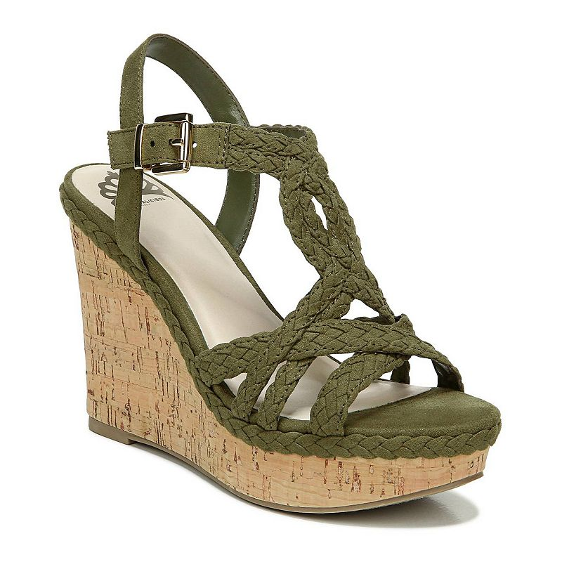 Fergalicious Voyager Women's Strappy Wedge Sandals, Size: 7, Green