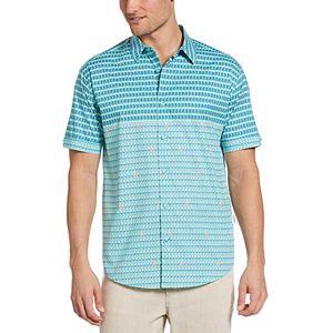 Men's Cubavera Mini Flamingo Placement Print Shirt