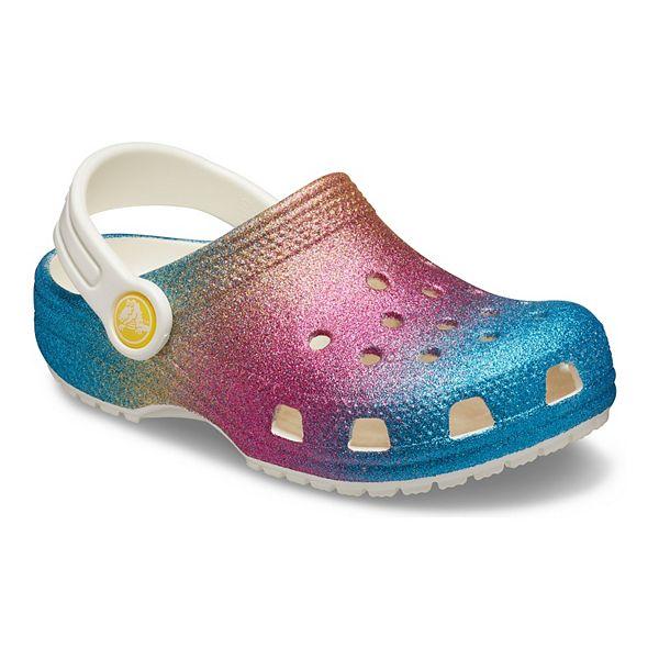 Crocs Classic Ombre Glitter Girls' Clogs