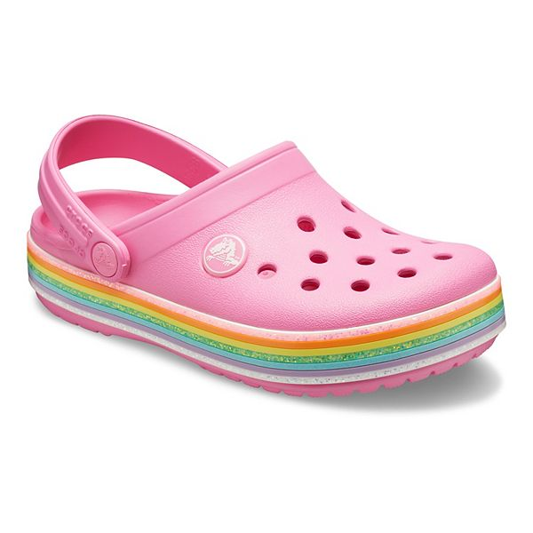 Crocs Crocband Rainbow Glitter Girls' Clogs