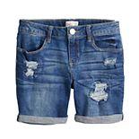 Girls 4-20 SO® Fashion Midi Denim Shorts in Regular & Plus Size