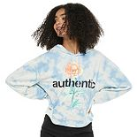 "Juniors' Mighty Fine ""Authenic"" Rose Cropped Hoodie"