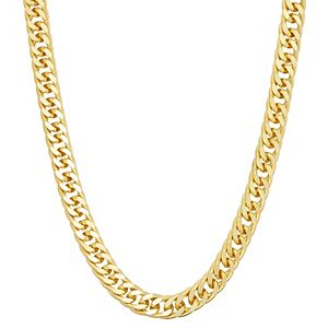 Men's Sterling Silver Miami Cuban Curb Chain Necklace