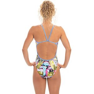 Women's Dolfin Uglies Printed String Back One-Piece Swimsuit