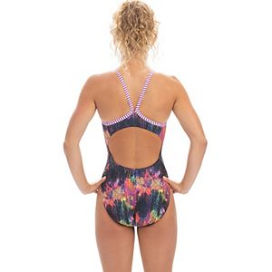 Plus Size Dolfin Uglies Print V-2 Racerback One-Piece Swimsuit