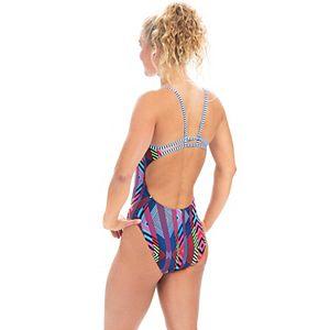 Women's Dolfin Uglies Diamond-Print Double Strap One-Piece Swimsuit
