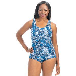 Women's Dolfin Aquashape Paisley Lap One-Piece Swimsuit