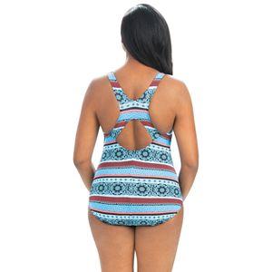 Women's Dolfin Aquashape Striped Lap One-Piece Swimsuit