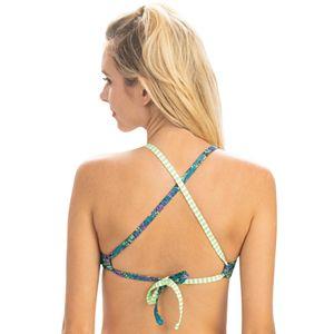 Women's Dolfin Uglies Revibe Butterfly Print Crop Bikini Swim Top