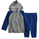 Toddler Boy Jumping Beans® Microfleece Raglan Hoodie & Jogger Pants Set