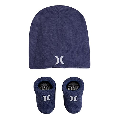 Baby Boy Hurley Icon Slouchy Beanie & Booties Set