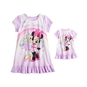 Disney's Minnie Mouse & Daffy Duck Toddler Girl Night Gown & Doll Gown Set