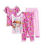 Toddler Girl Paw Patrol Smile 4-Piece Tops & Bottoms Pajama Set